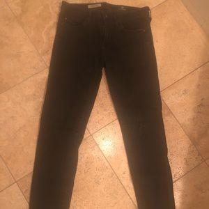 Pants - Stevie Ankle AG brand black denim
